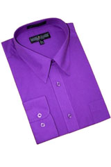 DG404 Purple color shade Cotton Blend Dress Shirt With