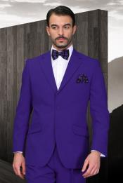 KA6933 Purple color shade Athletic Cut Suits Classic Fit