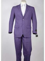 SM987 Notch Lapel Purple color shade 2 Button Style