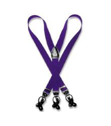 D7QN Purple color shade Suspenders Y Shape Back Elastic