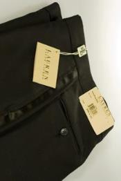 QY48L Napier Ralph Lauren Plain Front Tuxedo Pants