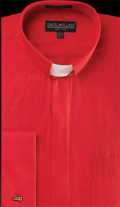 PN-Y62 Banded Collar Clergy dress shirts no collar mandarin