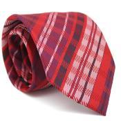 Slim narrow Style red color shade Glen Classic Necktie