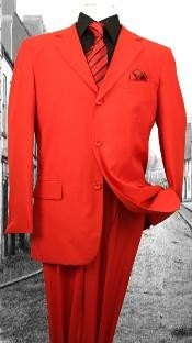FL3937 Superior Fabric 120S G-Red Solid Color Suit