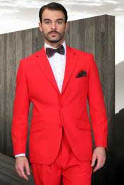 FR-15 red color shade Athletic Cut Suits Classic Fit