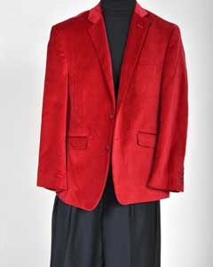 VV1190 Velvet Sport Coat- red color shade