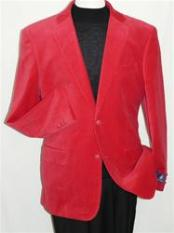 YT5542 red color shade Velvet Blazer Online Sale Jacket