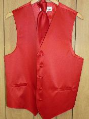 KA1306 - red color shade VEST & TIE SET