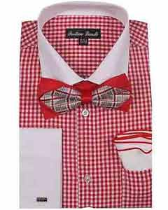 Red Checks Dress Shirt