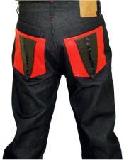 GD982 G-Gator Mens Genuine HornBack Red Alligator Tail Pockets
