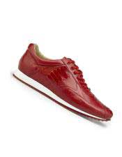 CH2208 Mens Genuine Ostrich Lace Up Style red Dress