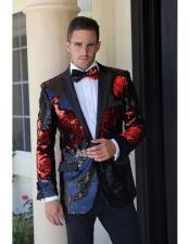 mensfashionpaisleyprinttuxedoSequin~UniqueShiny