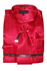 KO421 New red color shade Satin Dress Shirt Tie