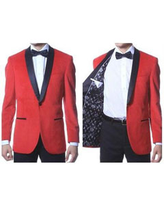 PN_P66 1 Button Style Velvet ~ Velour Tuxedo With
