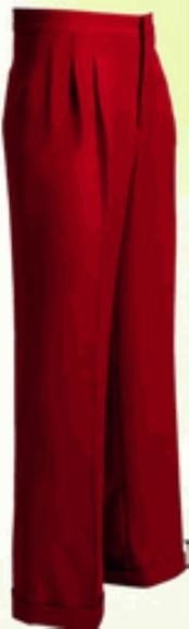 RW363 long rise big leg slacks Wide Leg Triple