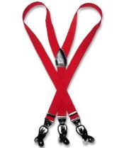 D8TG red color shade Suspenders Y Shape Back Elastic