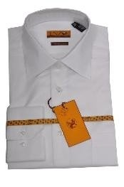 JH222 Online Discount Dress Lay down Shirt White Regular