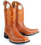 RM1010 King Exotic Rodeo Style Leather Welt Construction Cognac