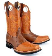 RM1022 King Exotic Rodeo Style Leather Boot Leather Saddle
