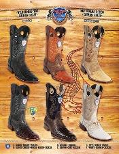 PN-R78 Rodeo Toe Genuine Cai Belly Cowboy Western Boots