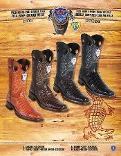 PN_J32 Rodeo Toe Genuine Shark In Rubber Sole Cowboy