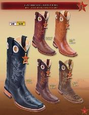 PNA41 Rodeo Boots Leather Sole Cowboy Western Boots Multi-color