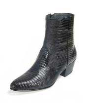 JSM-6435 Los Altos Mens Genuine Full Teju Lizard Ankle