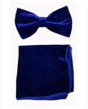 Velvet Bowtie with Hanky royal