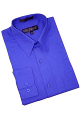 CA568 royal blue pastel color Cotton Blend Dress Shirt
