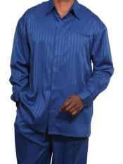 JSM-3577 Mens 2 Piece Set Royal Blue Long Sleeve