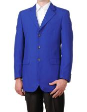 EX22 royal blue pastel color Single Breasted 3 Button