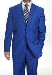 Two Button Suit Royal Blue