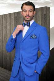 EK-95 royal blue pastel color Suit 2 Button Style