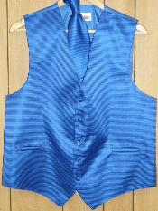 KA1316 royal blue pastel color Vest & Tie set
