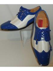 Mens Royal Blue/White Croc-Look