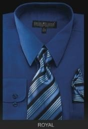 RY6009 Dress Shirt - PREMIUM TIE - Royal