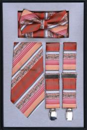 HT30 Suspender Tie Bow Tie ~ Bowtie and Hanky