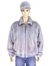 GD887 Mens Fur Sapphire Full Skin Genuine Mink Pull