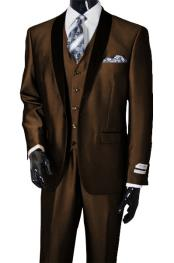 Mens Shawl Lapel Sharkskin
