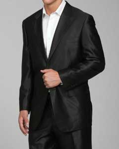 SH22 Shiny Liquid Jet Black 2-button Suit