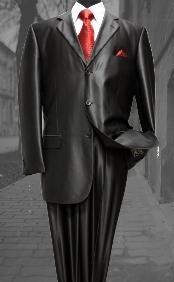 sharkskin Single Breasted Suit