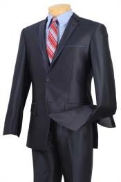 BC-53 Tuxedo & Formal Shiny Flashy Blue Trimmed Slim