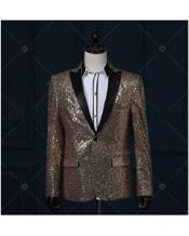 JSM-3051 Gold / Yellow & Black Real Sequin With
