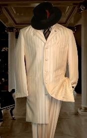 HIN2059 Shiny Ivory~OFF White~Cream tone on tone Shadow Stripe