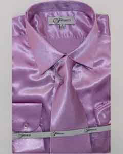 Shiny Luxurious Shirt Lavender