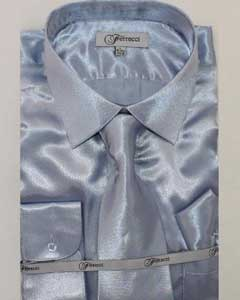 Shiny Luxurious Shirt Light Blue ~ Sky Blue