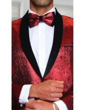 UniqueShinyFlashyFashionPromTuxedo2TonedRed