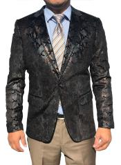 Mens Sequin ~ Unique Shiny Fashion Prom ~ Paisley