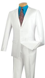 BC-52 Tuxedo & Formal Shiny Flashy White Trimmed Slim