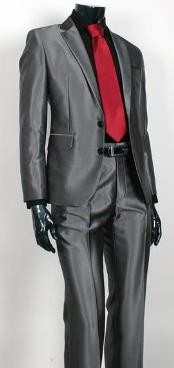 Sharkskin Dark Grey Masculine